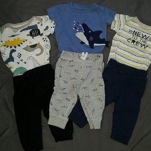 3 Baby boy matching sets - 3-6 months